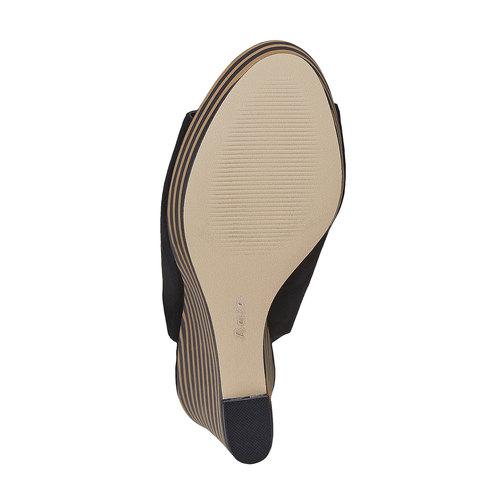 Sandali stringati con zeppa insolia, nero, 769-6559 - 26