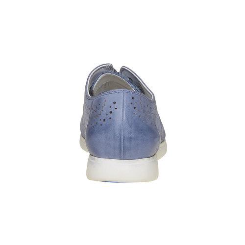 Scarpe basse blu in pelle bata, blu, 526-9567 - 17