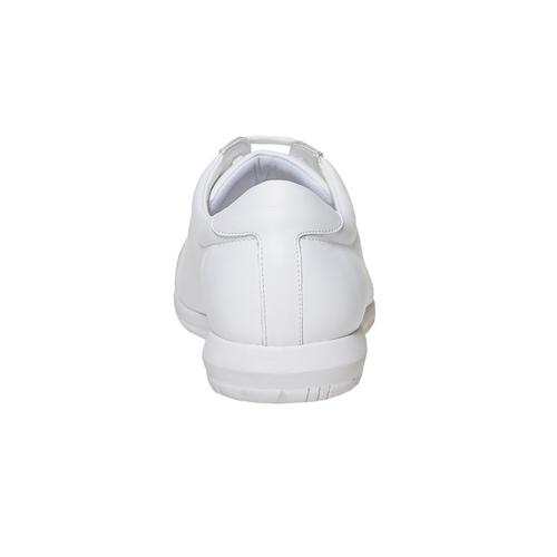 Sneakers bianche in pelle flexible, bianco, 524-1597 - 17