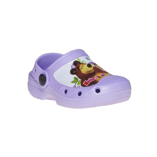 Sandali da bambina con stampa, viola, 272-9152 - 13