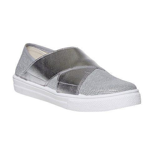 Slip-on metallizzate da bambina north-star, argento, 329-1279 - 13