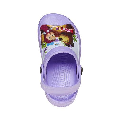 Sandali da bambina con stampa, viola, 272-9152 - 19