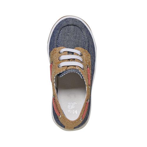 Scarpe da bambino in stile mocassini mini-b, blu, 219-9174 - 19
