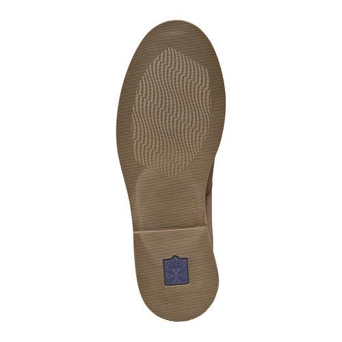 Scarpe basse da uomo in pelle bata, beige, 854-2238 - 26