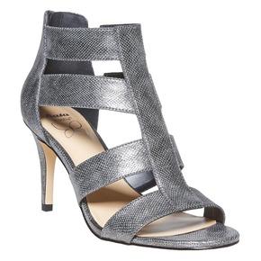 sandali metalizzati con tacco insolia, grigio, 761-2399 - 13