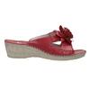 Pantofole da donna in pelle, rosso, 674-5121 - 15