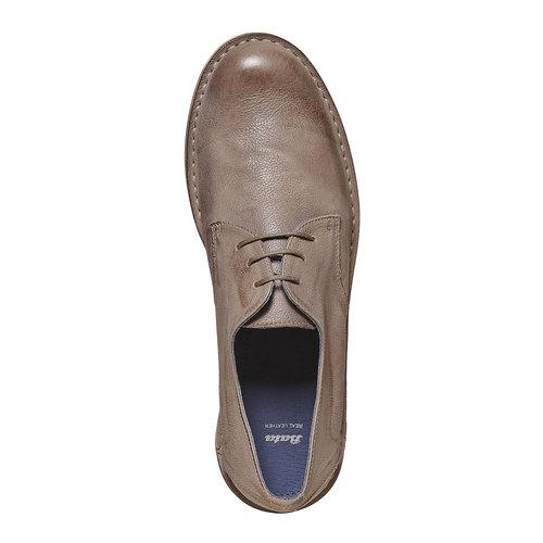Scarpe basse da uomo in pelle bata, beige, 854-2238 - 19