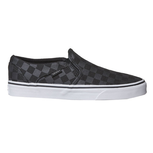 Slip-on da donna con motivo vans, nero, 589-6288 - 15