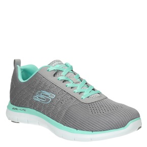 Sneakers con memory foam skechers, grigio, 509-2965 - 13