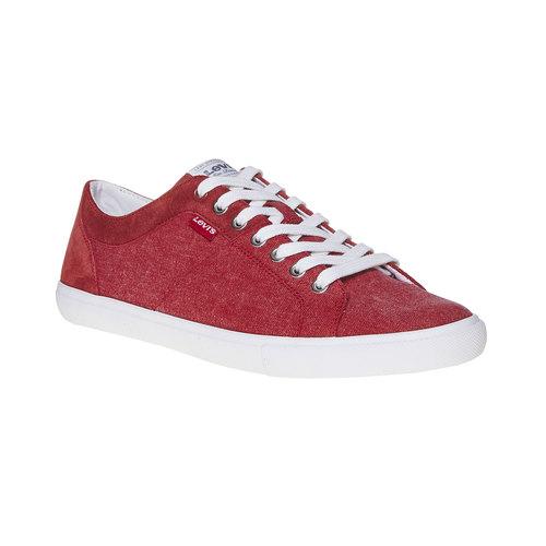 Sneakers rosse da uomo levis, rosso, 849-5513 - 13