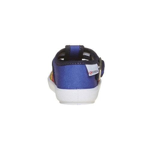 Scarpe da bambino con motivo superga, blu, 169-9141 - 17