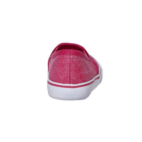 Slip-on da ragazza con strass north-star, rosso, 229-5193 - 17