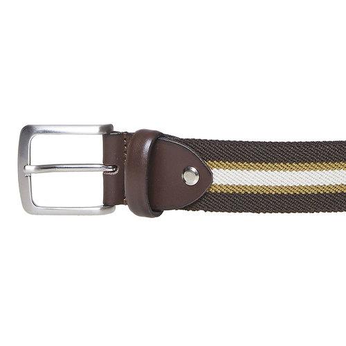 Cintura da uomo in tessuto bata, marrone, 959-4285 - 26