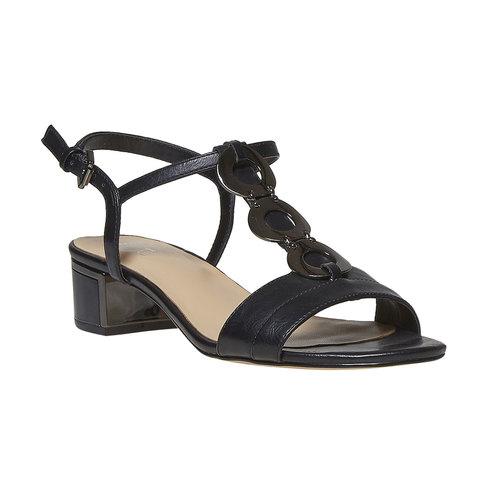 Sandali da donna con applicazioni decorative bata, nero, 661-6249 - 13