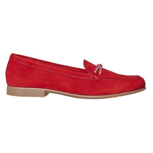 Mocassini in pelle da donna con lacci flexible, rosso, 516-5276 - 15
