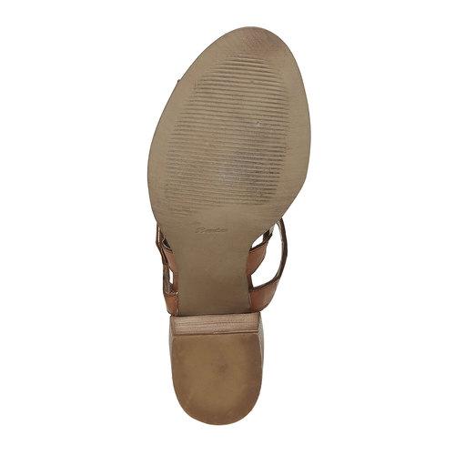Sandali in pelle con fibbie bata, marrone, 764-4558 - 26