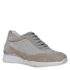Sneakers in pelle da donna flexible, grigio, 529-2586 - 13