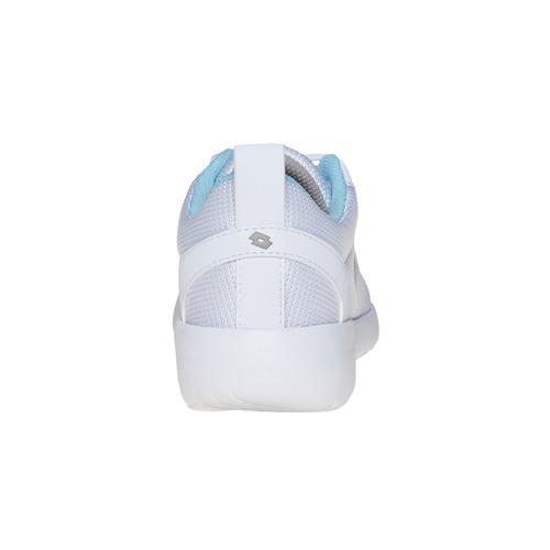 Sneakers da donna con dettagli blu lotto, bianco, 509-1952 - 17