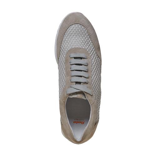 Sneakers in pelle da donna flexible, grigio, 529-2586 - 19