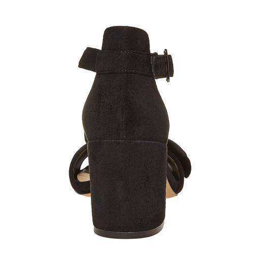 Sandali con fiocco sul tallone insolia, nero, 769-6253 - 17