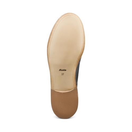 Scarpe basse da donna Oxford in pelle bata, nero, 524-6482 - 19