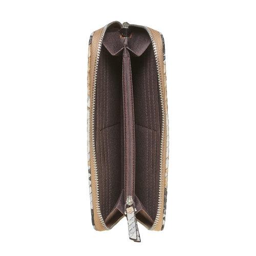 Portafoglio da donna con decorazioni bata, marrone, 941-4149 - 15