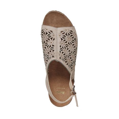 Sandali da donna con plateau bata, grigio, 669-2248 - 19