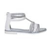 Sandali bianchi da ragazza con strass mini-b, bianco, 361-1217 - 15
