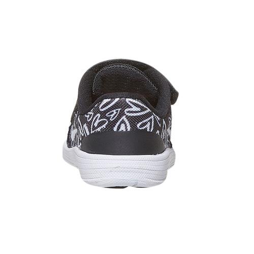 Sneakers da bambina con chiusura a velcro nike, nero, 109-6149 - 17