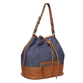 Borsetta in stile Bucket Bag bata, blu, 969-9332 - 13