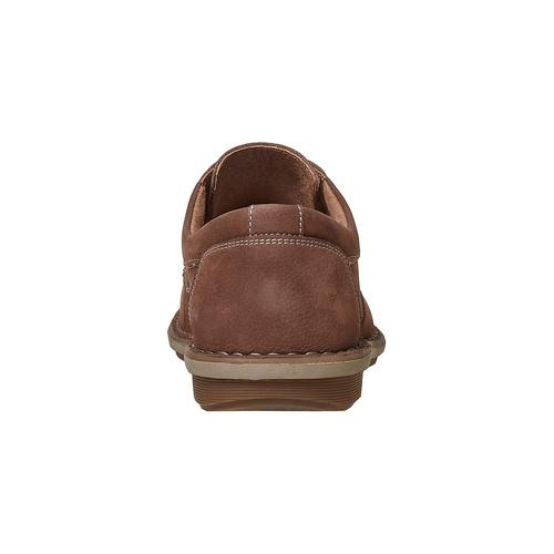 Scarpe basse marroni in pelle bata, marrone, 846-4376 - 17