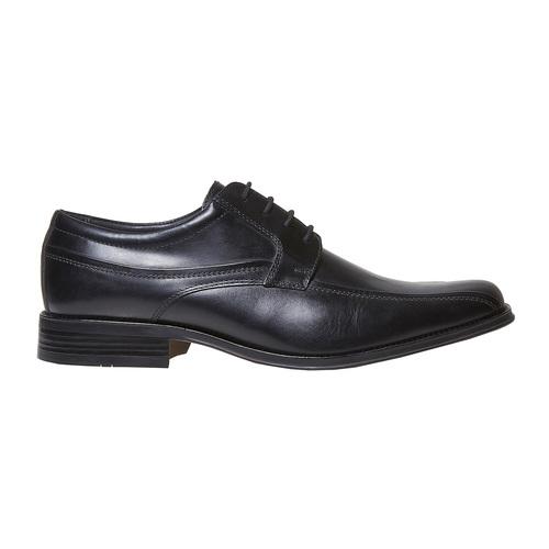 Scarpe basse nere in pelle, nero, 824-6454 - 15