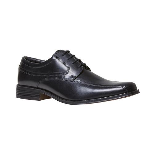 Scarpe basse nere in pelle, nero, 824-6454 - 13