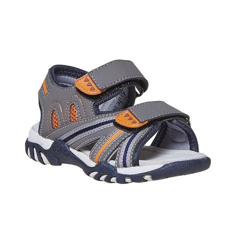 Sandali da bambino con chiusura a velcro mini-b, grigio, 261-2193 - 13