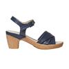 Sandali blu con tacco naturale bata-touch-me, blu, 664-9231 - 15