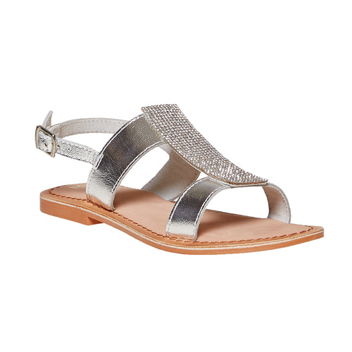 Sandali in pelle con strass mini-b, 364-2208 - 13