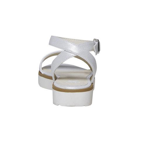 Sandali da ragazza con suola appariscente mini-b, bianco, 361-1194 - 17