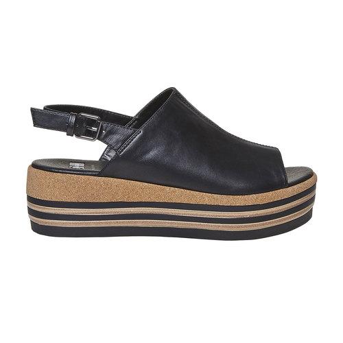 Sandali neri da donna bata, nero, 661-6241 - 15