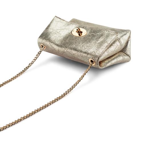 Minibag in vera pelle bata, oro, 964-4239 - 17