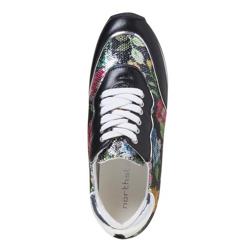 Sneakers con motivo floreale, 549-0157 - 19