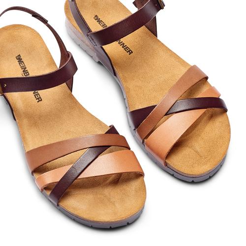 Sandali in vera pelle weinbrenner, marrone, 564-4254 - 26