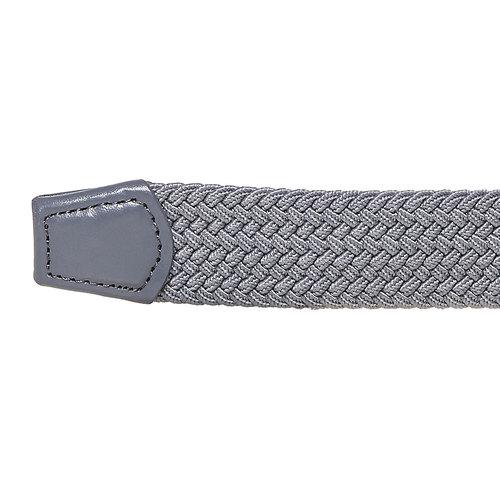Cintura da uomo in tessuto bata, grigio, 959-2217 - 16