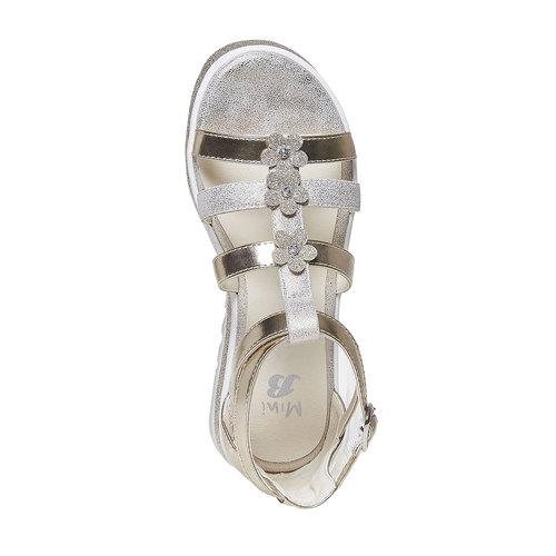 Sandali dorati da ragazza mini-b, marrone, 361-3203 - 19