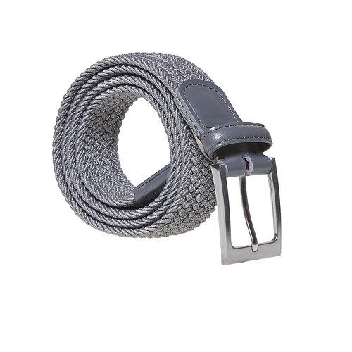 Cintura da uomo in tessuto bata, grigio, 959-2217 - 13