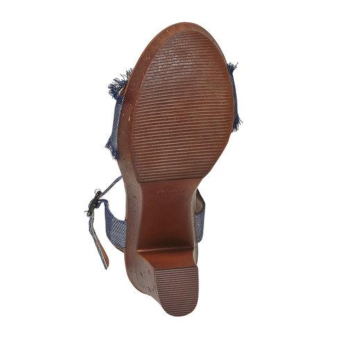 Sandali da donna con tacco naturale bata, blu, 769-9624 - 26