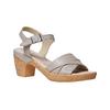Sandali da donna con tacco naturale bata-touch-me, grigio, 664-2231 - 13