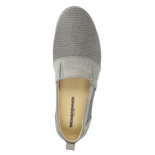 Slip-on da donna in pelle weinbrenner, grigio, 513-2263 - 19