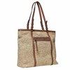 Borsetta in stile Shopper con tessuto a maglia bata, marrone, 969-8365 - 13
