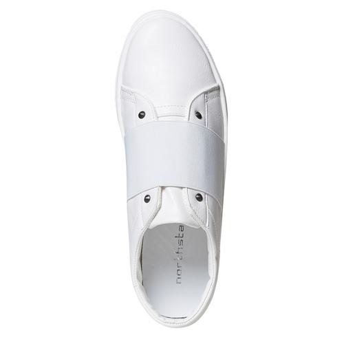 Sneakers bianche con borchie a punta north-star, bianco, 831-1137 - 26