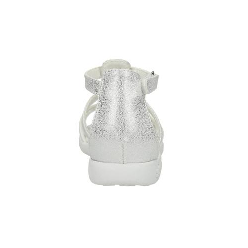 Sandali da ragazza con applicazioni floreali mini-b, bianco, 261-1178 - 17